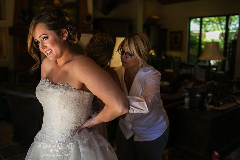 Alexandrea Petznick gets into her Vera Wang wedding gown