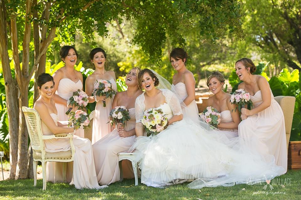 bridesmaids at Dancing Apache wedding
