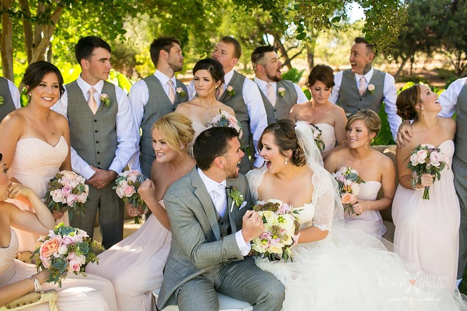 bridal party photos at an Arizona vineyard