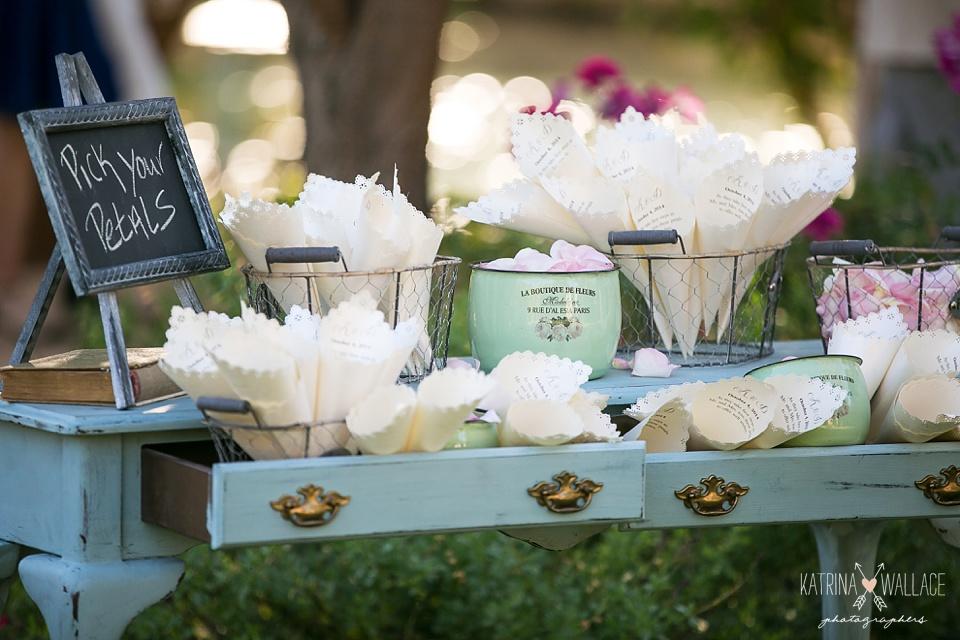 flower petal toss table