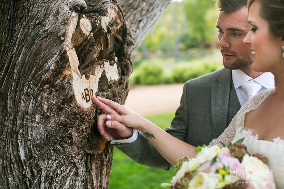 wedding ceremony tree branding