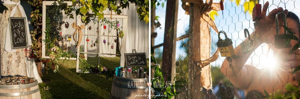 love locks wedding guest sign on