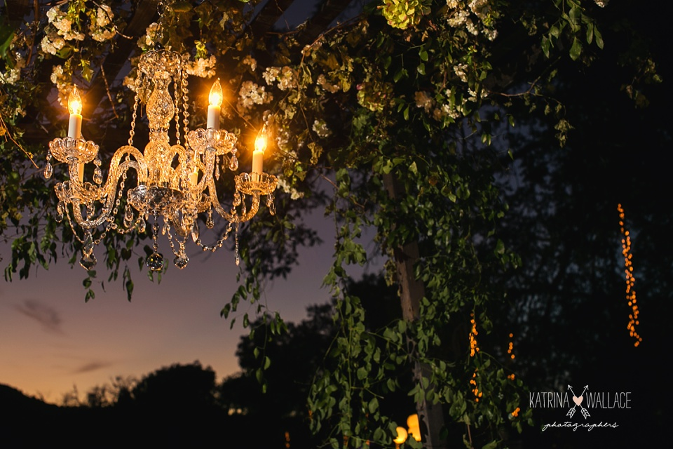 chandelier hanging at an Arizona wedding