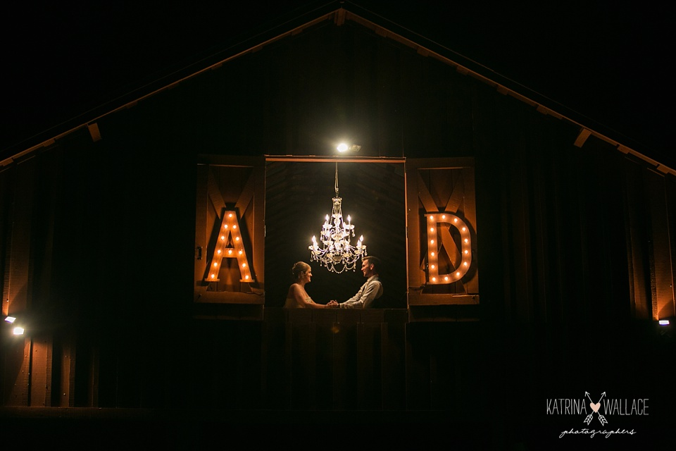 marquee letters at a wedding
