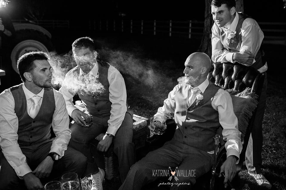 wedding cigar smoking