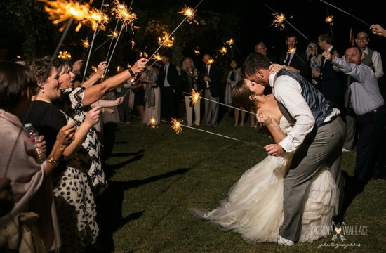 sparkler exit at Dancing Apache Lodge wedding
