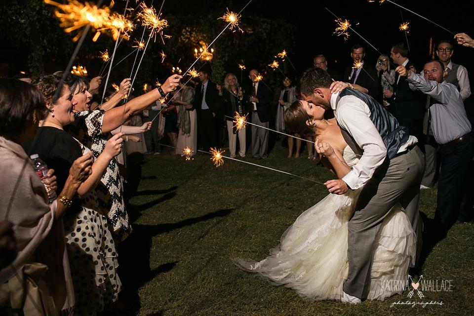 sparkler exit at Dancing Apache Lodge wedding