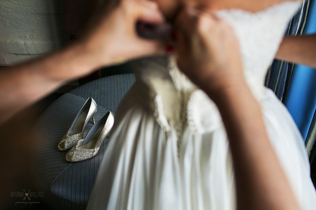 wedding shoe details