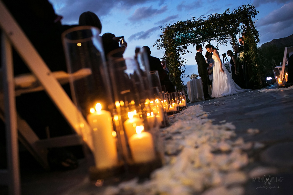dusk wedding at Sanctuary Resort
