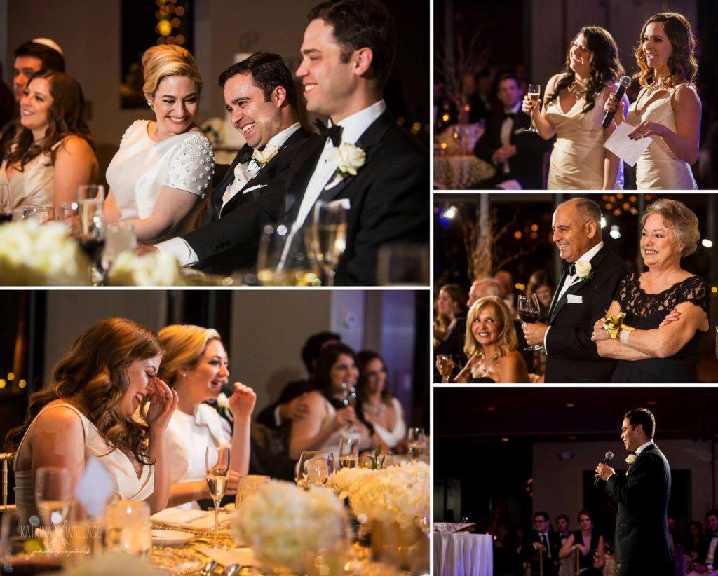 Sanctuary wedding toasts Katrina and Andrew Photography