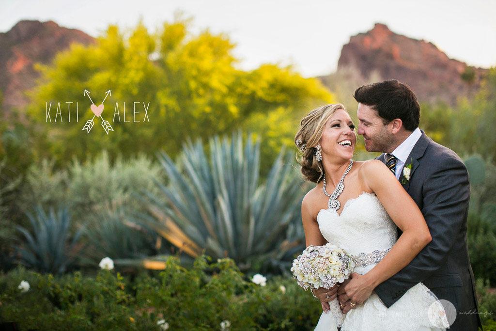 El Chorro wedding Scottsdale Kati + Alex romantic portrait