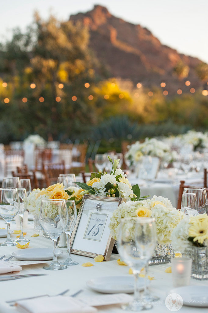 El Chorro dinner reception details table settings with floral