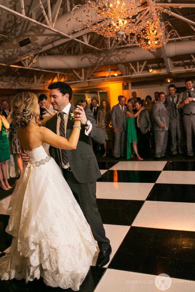 El Chorro wedding Kati + Alex enjoy their first dance together