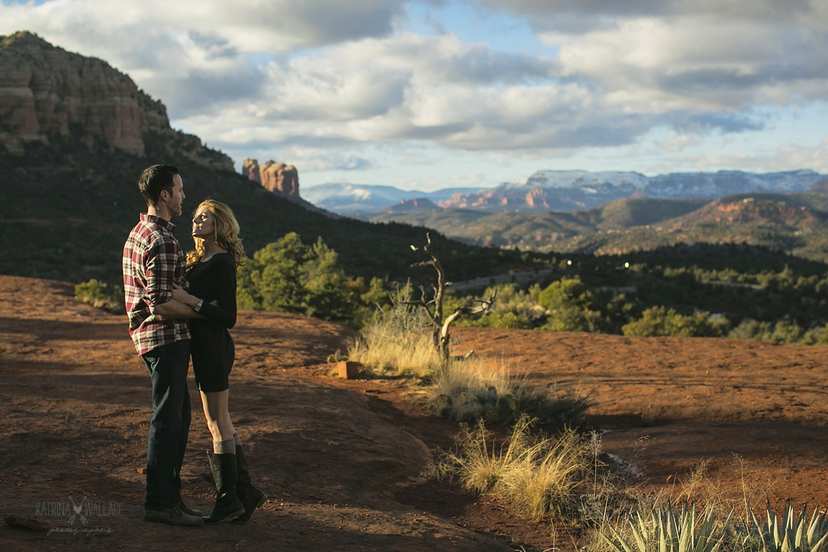 Sedona winter engagement session photography