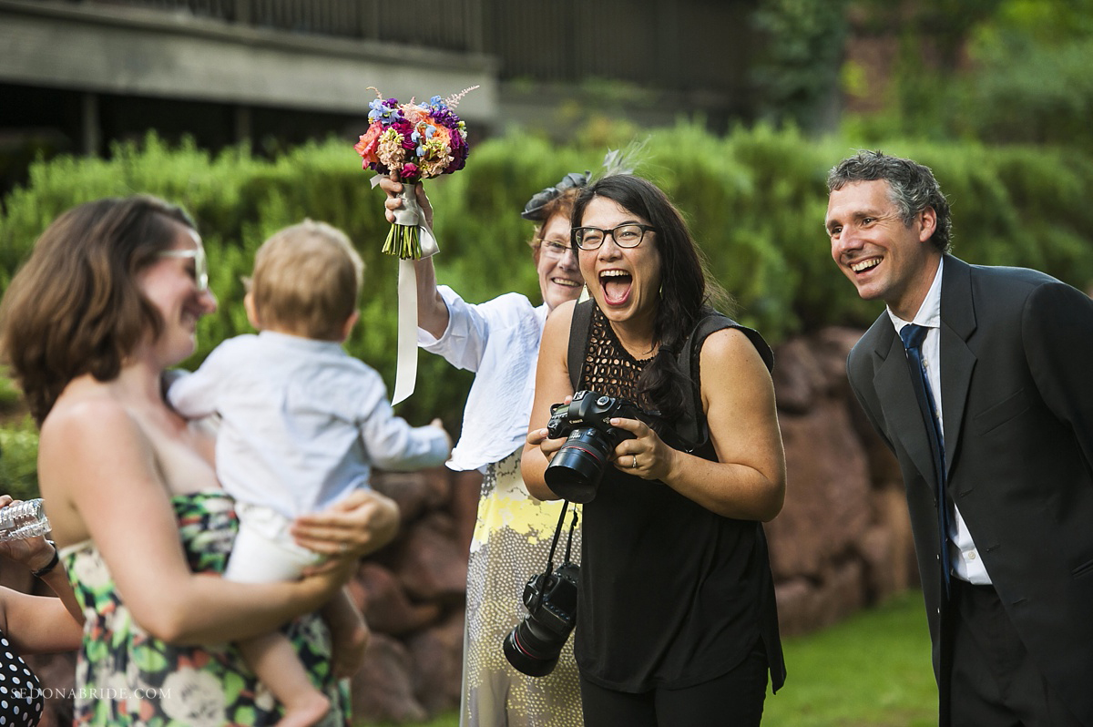 Arizona wedding photographer Katrina Wallace photographing a wedding